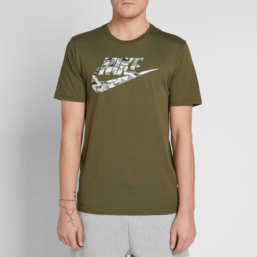 c4ab92ce Nike Camo Pack 2 Tee Olive Canvas & Sail | END.