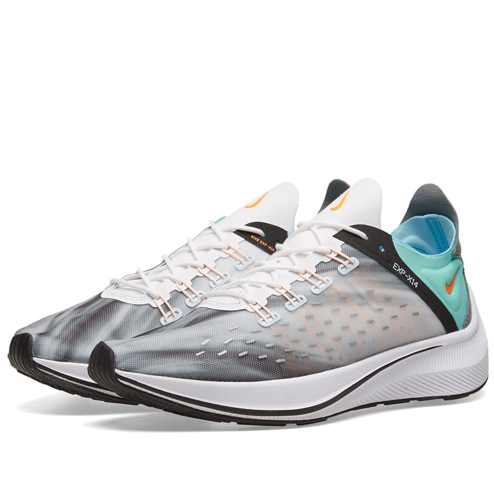 new concept 35154 78802 Nike EXP-X14 QS White, Emerald   Blue   END.
