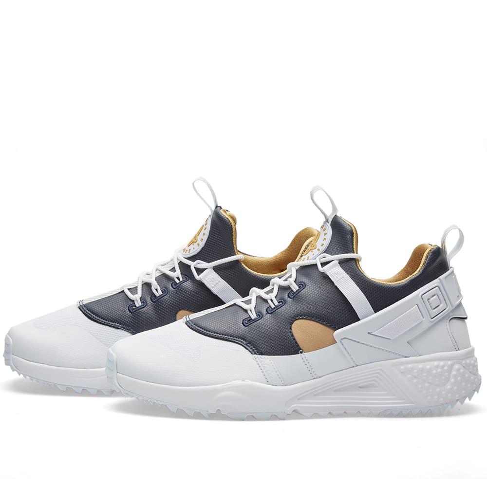 quality design 477e4 553ca Nike Air Huarache Utility Premium White   Metallic Gold   END.