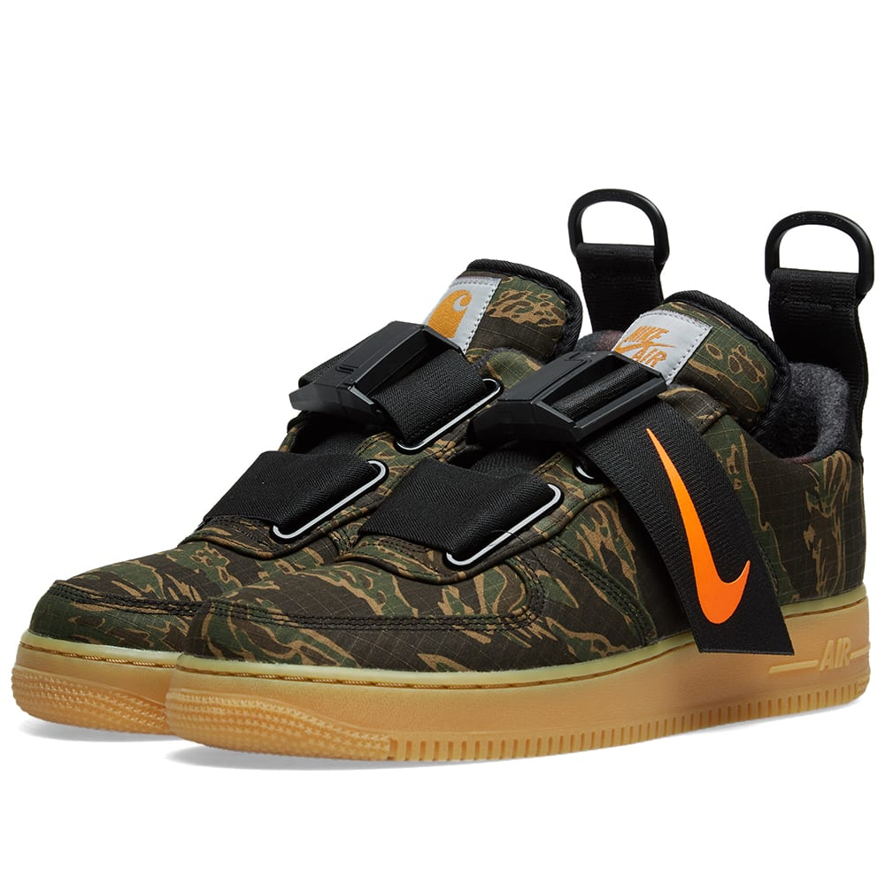 separation shoes 6c1f4 d2fbe Nike Air Force 1 UT Low Premium WIP Green, Orange   Light Brown   END.