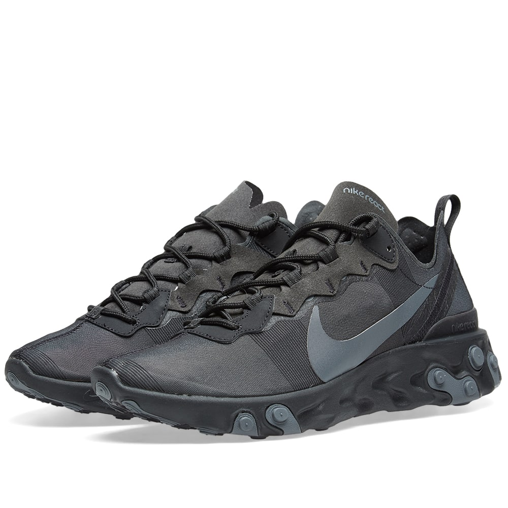 buy popular 28628 de675 Nike React Element 55 Black   Dark Grey   END.