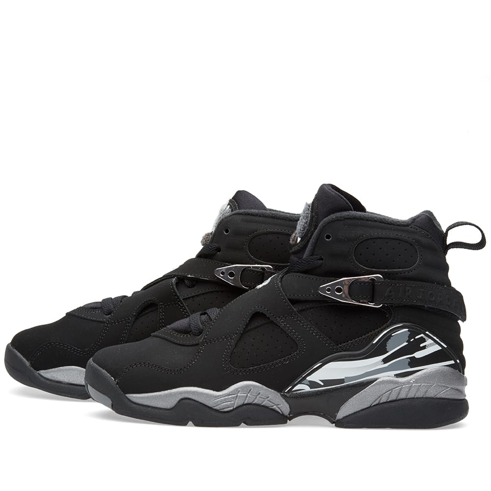 competitive price 132ad 79f98 Nike Air Jordan VIII  Chrome  Black, White   Light Granite   END.