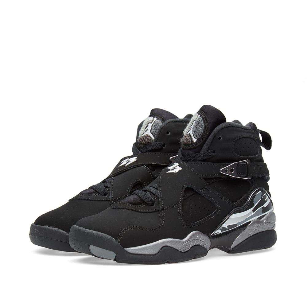 super popular 3c953 c533f Nike Air Jordan VIII Retro BG  Chrome  Black, White   Light Graphite   END.