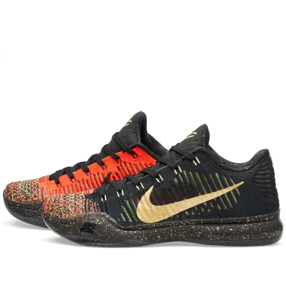 huge discount 52cd7 c1174 Nike Kobe X Elite Low  Christmas  Black   Metallic Gold   END.