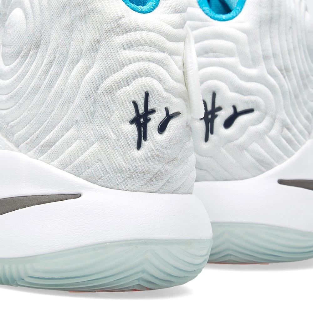brand new e2a9b 95942 Nike Kyrie 2  Christmas  White, Obsidian   Blue Lagoon   END.