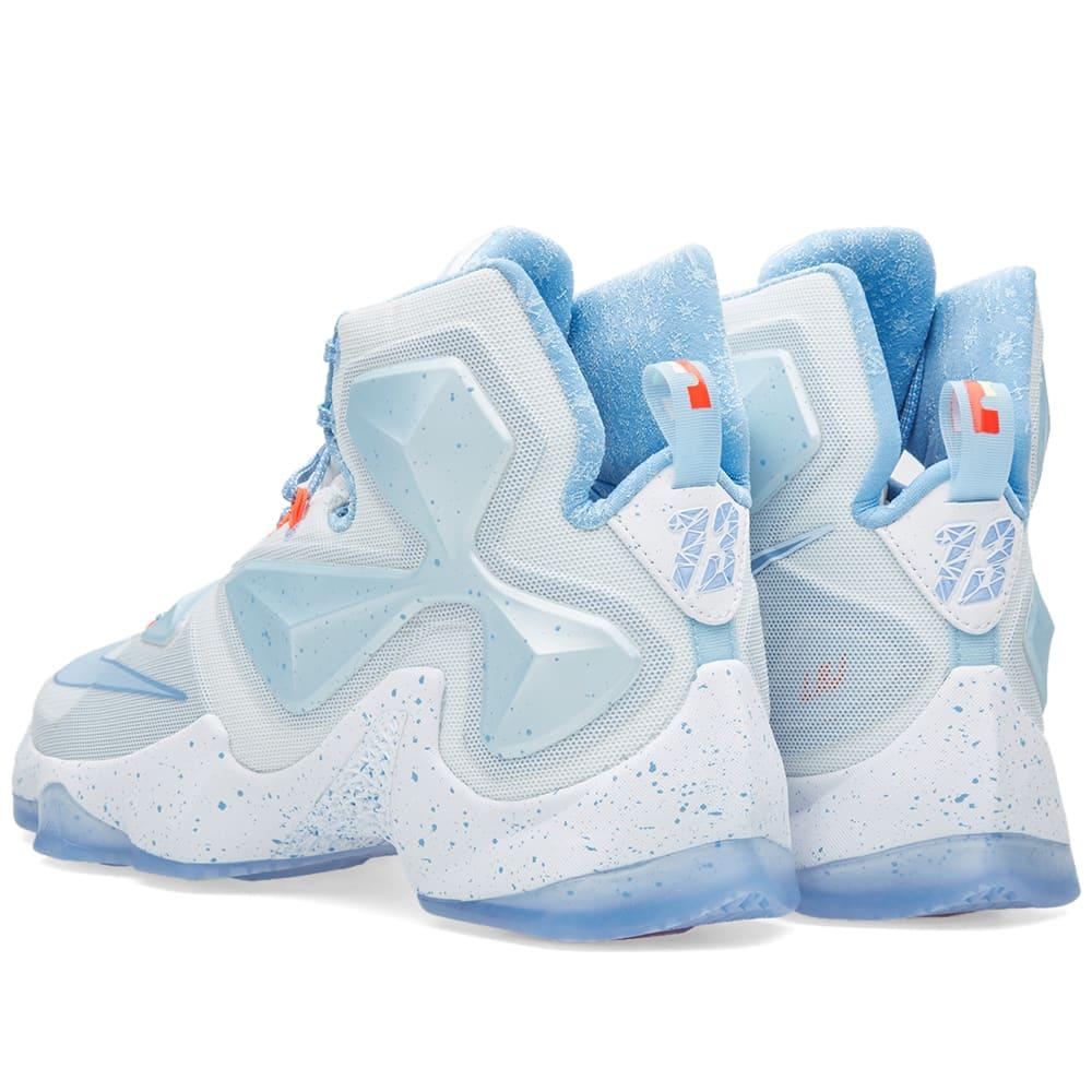 sports shoes 2930e 529fa Nike LeBron XIII  Christmas  Summit White   Blue Tint   END.