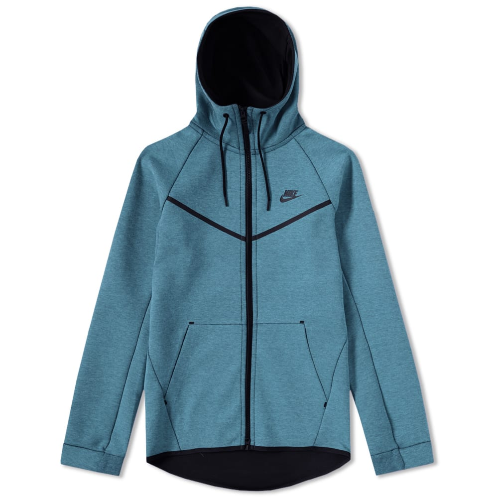 487bcc9ffa3 Nike Tech Fleece Windrunner Smokey Blue Heather   Black