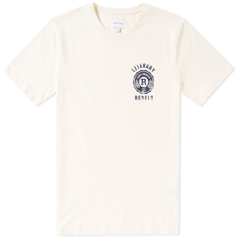 GANT RUGGER GANT LITERARY REBELS TEE