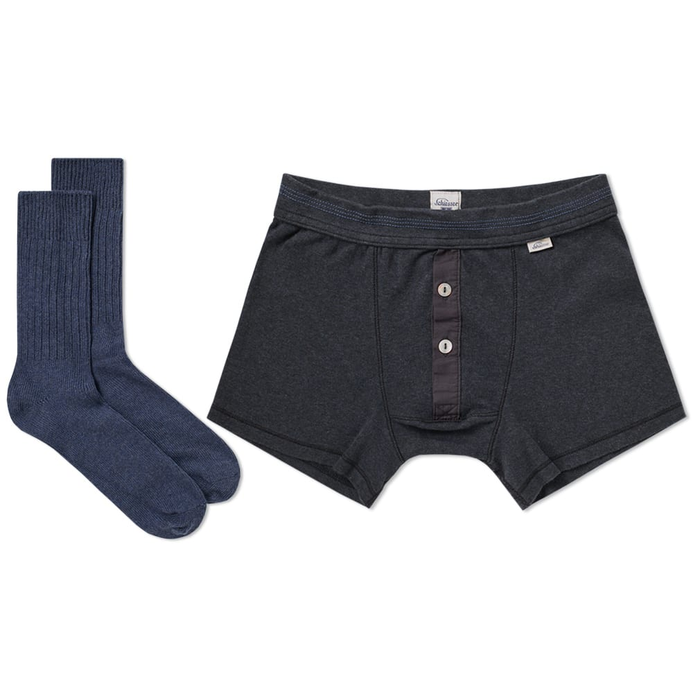 SCHIESSER Schiesser Boxer Short And Sock Pack in Blue