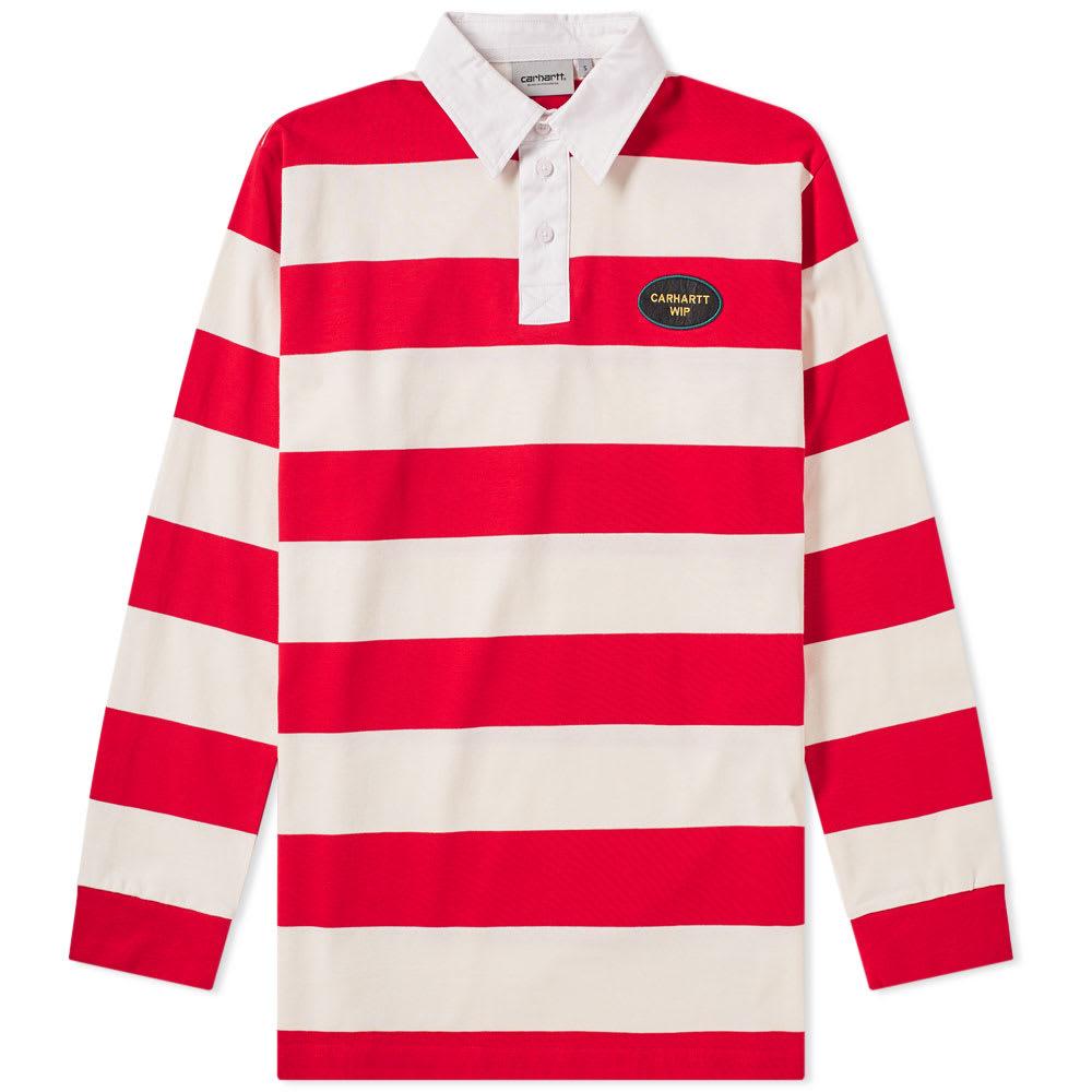 ea4d5fa168e Carhartt Roslyn Rugby Shirt Wax   Cardinal