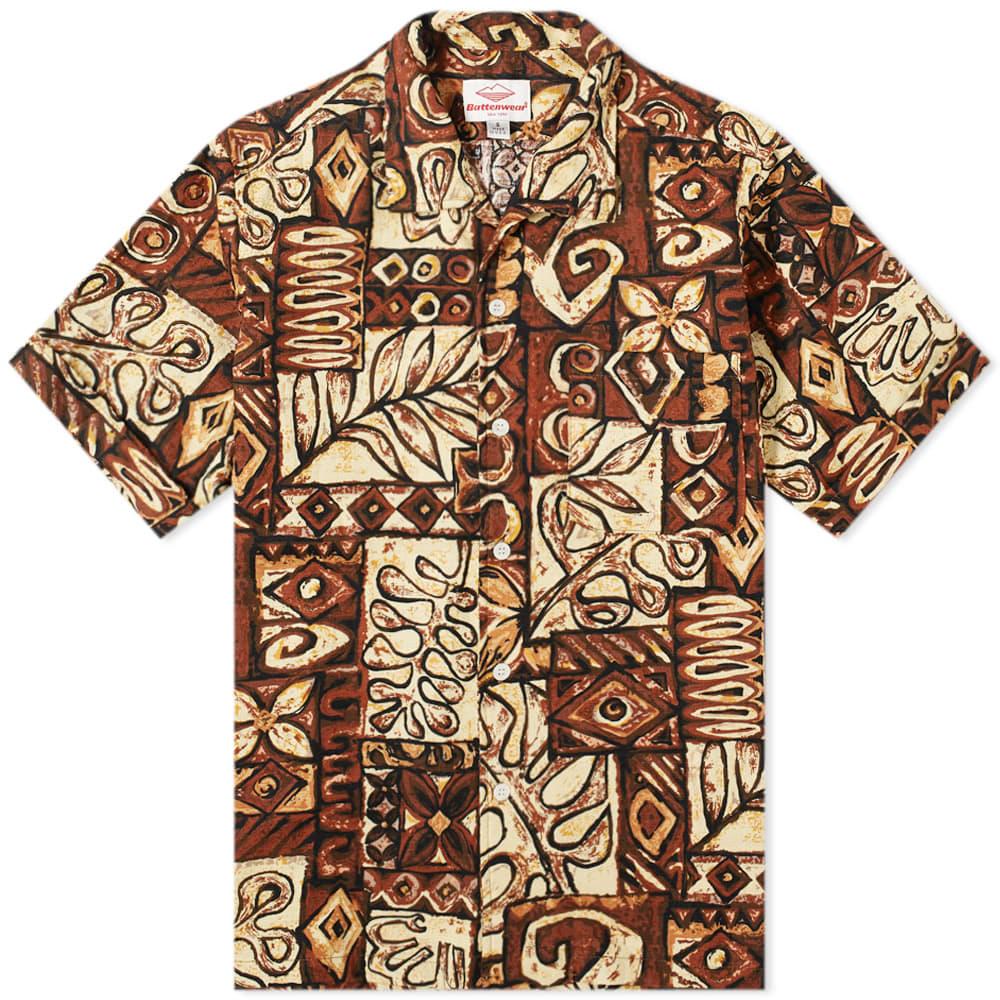 Battenwear Zuma Shirt In Brown