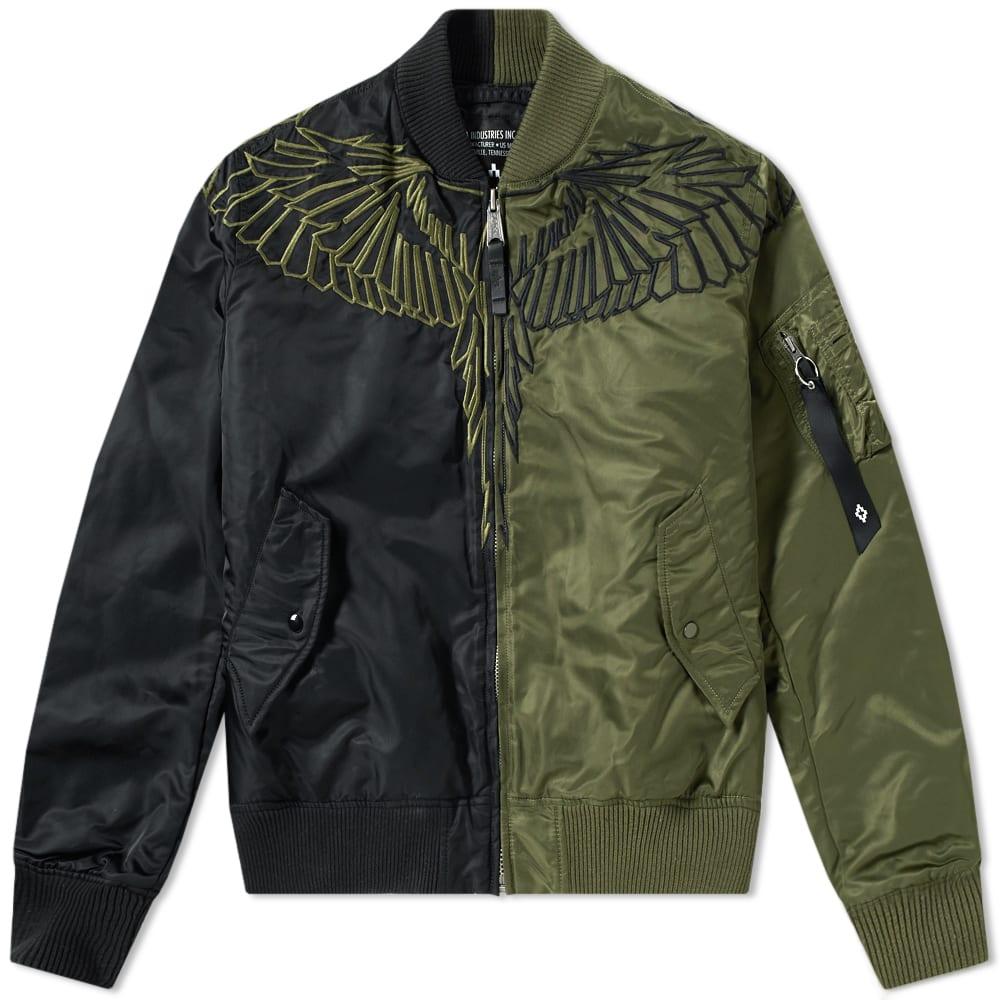 a54f1c848721 Marcelo Burlon x Alpha Industies Wings Bomber Jacket Green   Light Green