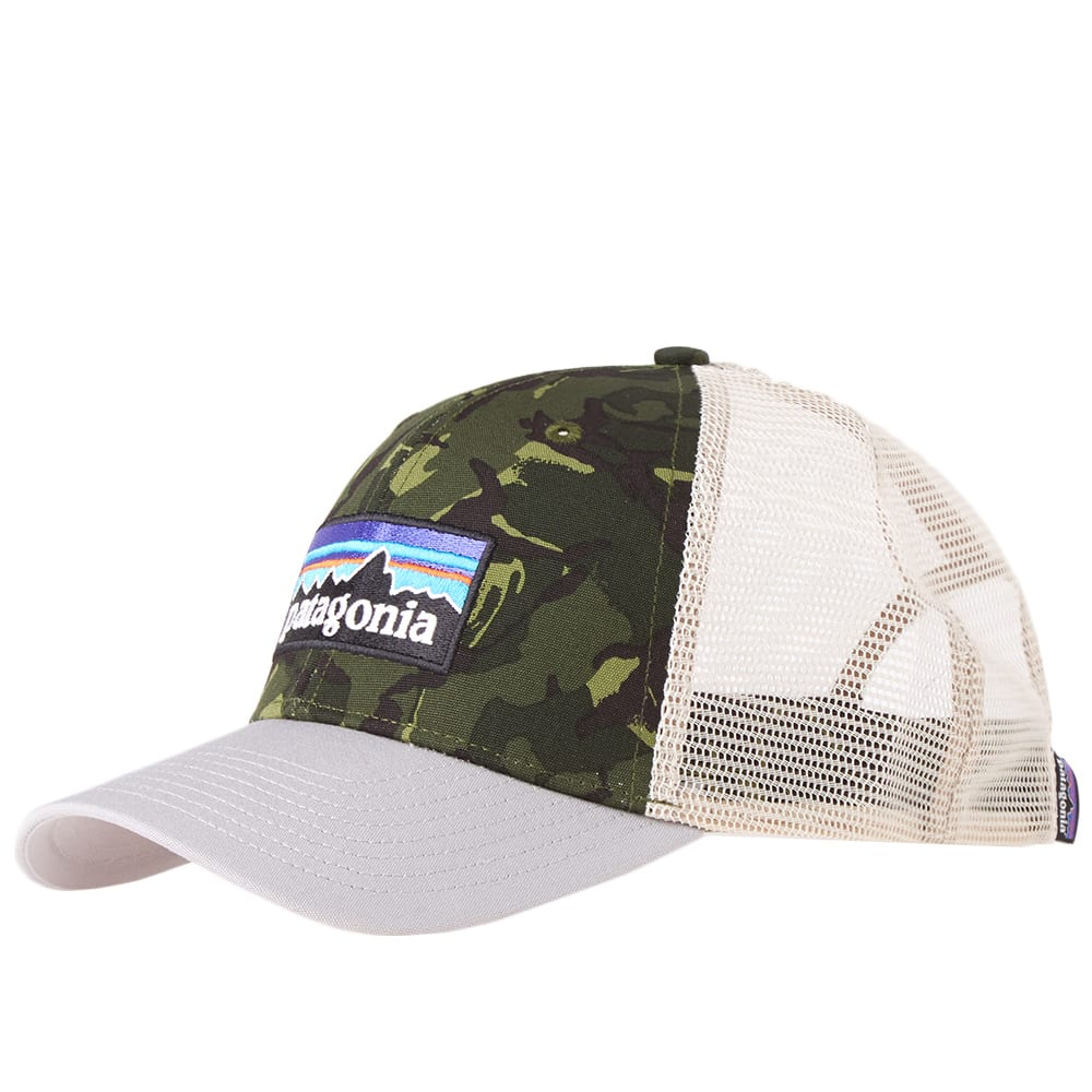 1f43371a Patagonia P-6 Logo Trucker Cap Fatigue Green & Drifter Grey | END.