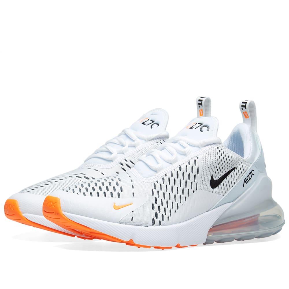 nike air max 270 orange and white