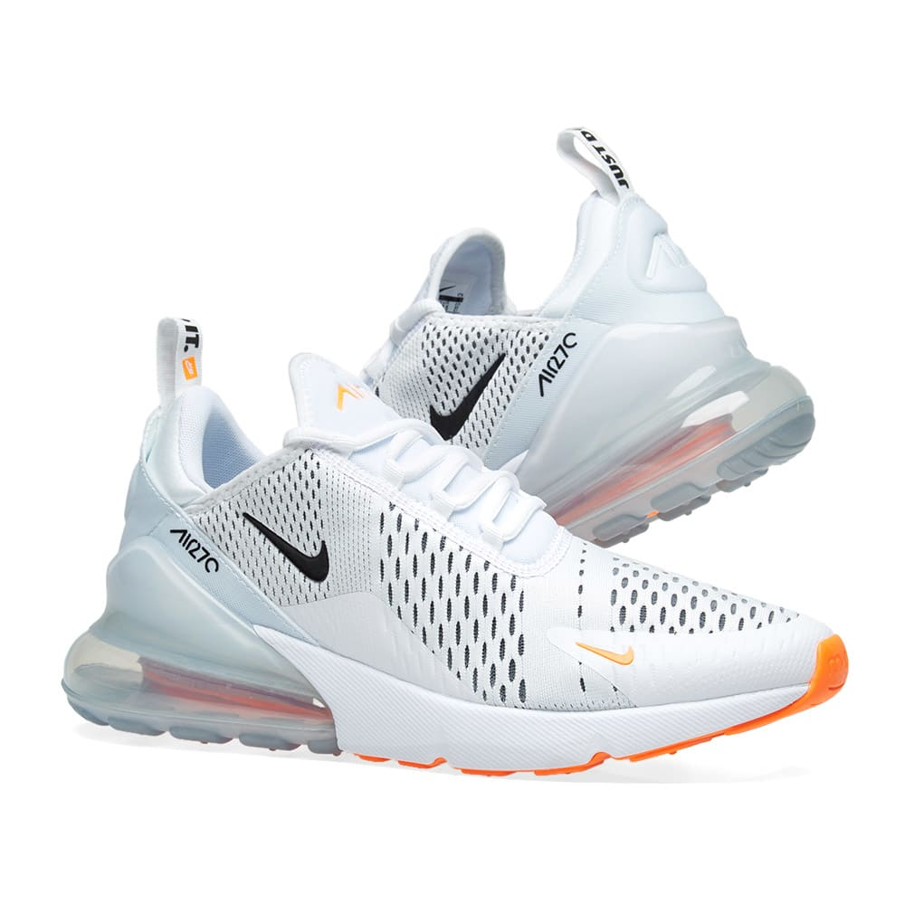 separation shoes 07a7d 2dce4 Nike Air Max 270 White, Black & Orange | END.