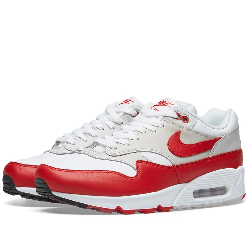 finest selection b8d09 dcc1c Nike Air Max 90 1 W White, Red, Grey   Black   END.