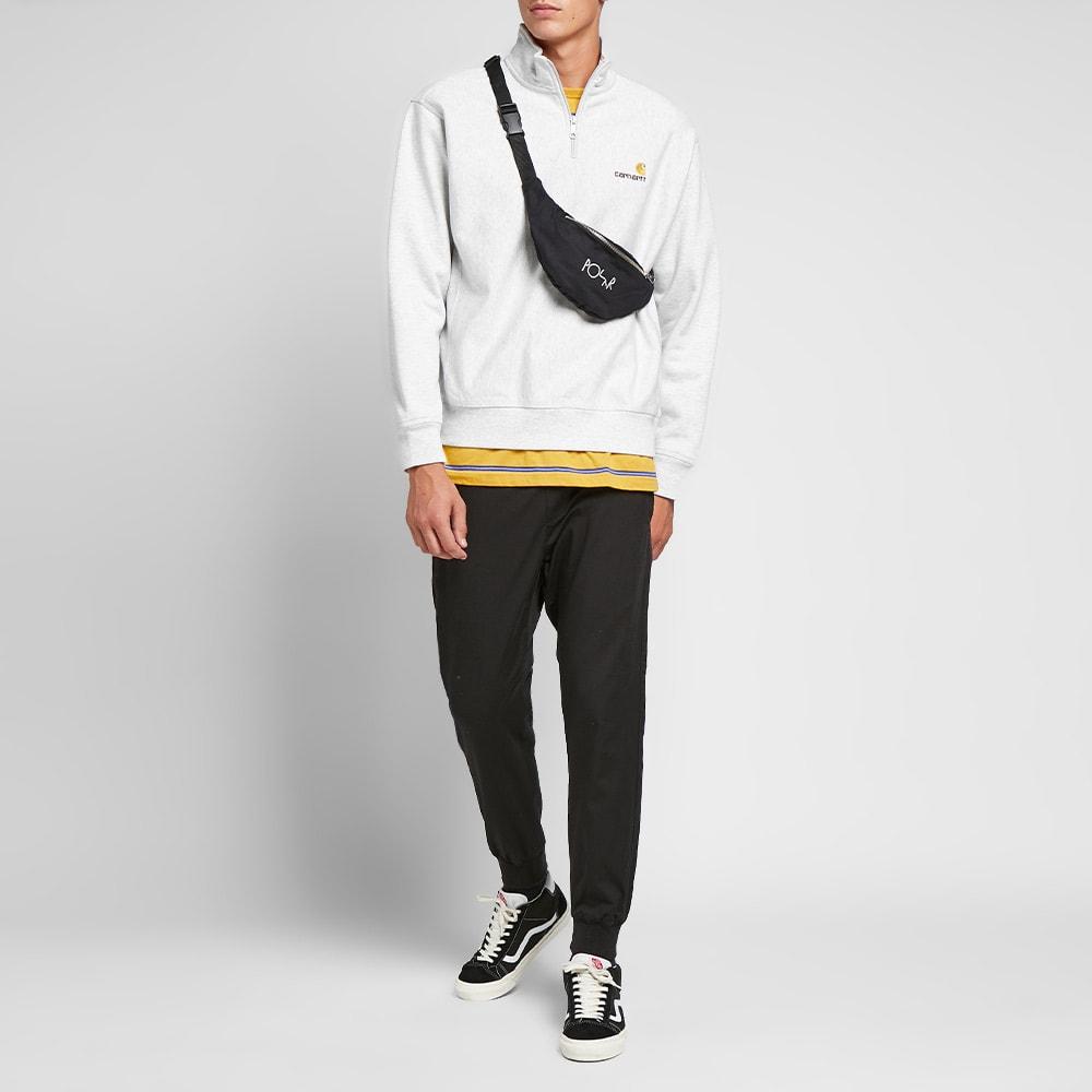 Half Zip American Script Sweatshirt | Ash Heather