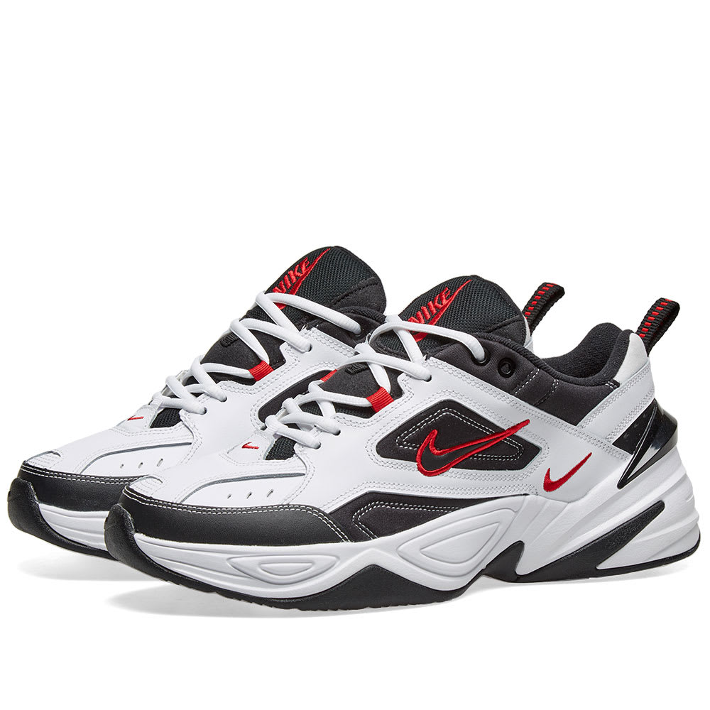 Nike M2k Tekno White Black University Red End