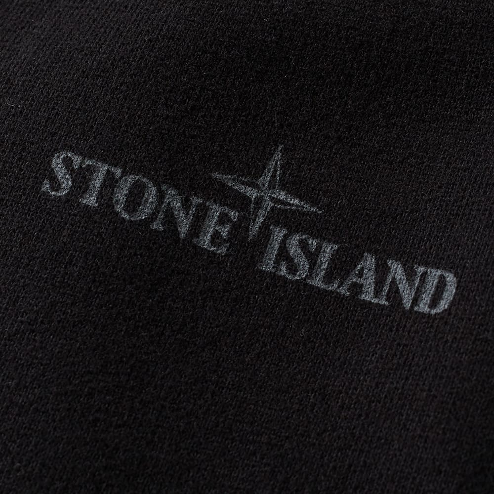 stone island logo popover hoody black. Black Bedroom Furniture Sets. Home Design Ideas