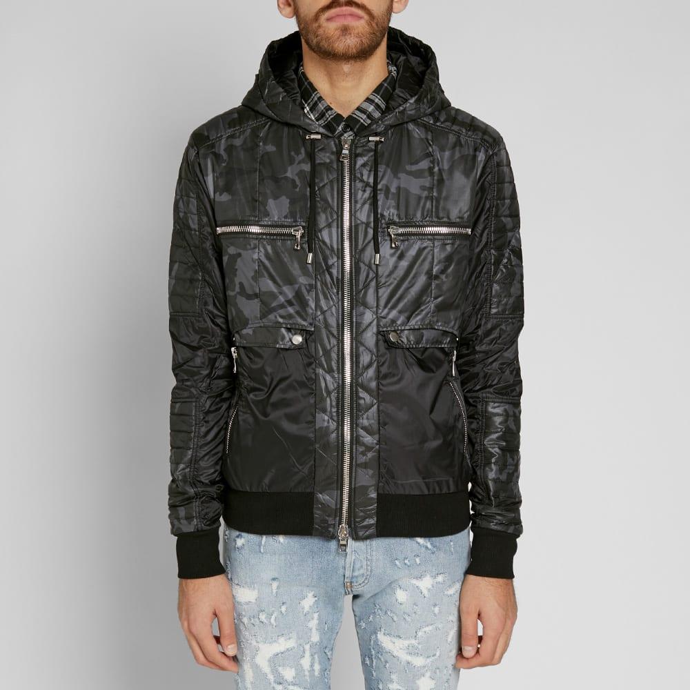 cf91ae1808ef7 Balmain Hooded Camo Zip Biker Jacket Camo | END.