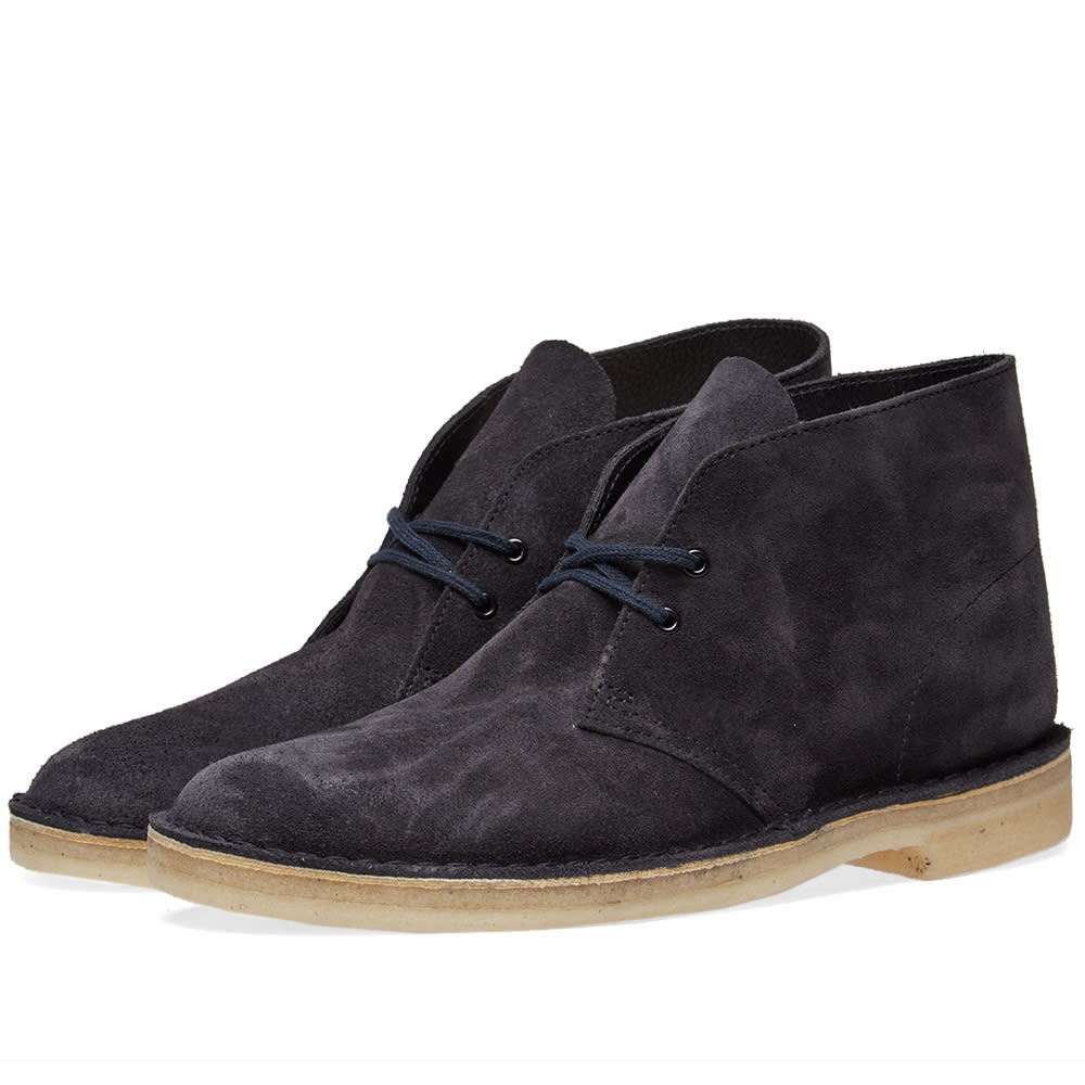 a661e3143eb222 Clarks Originals Desert Boot Ink Suede | END.