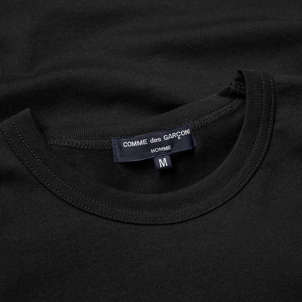 Comme des Gar\u00e7ons Shirt Long Sleeves Black Wool Button Up