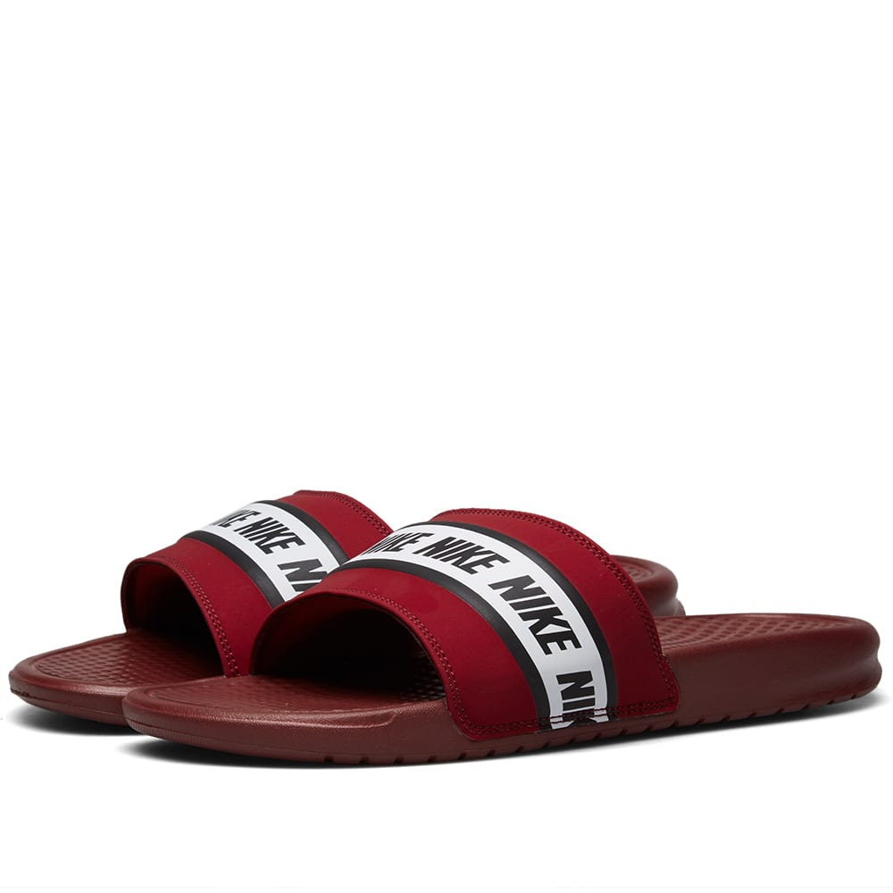 competitive price b4181 e0afb Nike Benassi Red   White   END.