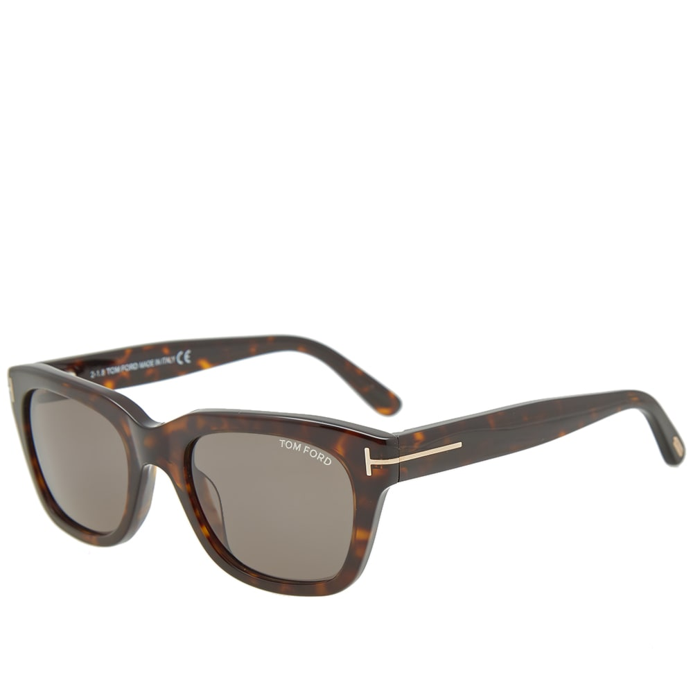3909375ccda7 Tom Ford FT0237 Snowdon Sunglasses Dark Havana   Green