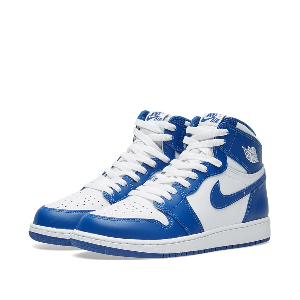 ff202e3b499d Nike Air Jordan 1 Retro High OG BG White   Storm Blue