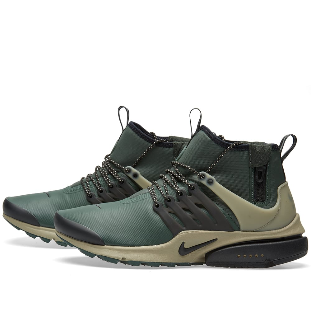 nike air presto mid utility grove green black. Black Bedroom Furniture Sets. Home Design Ideas