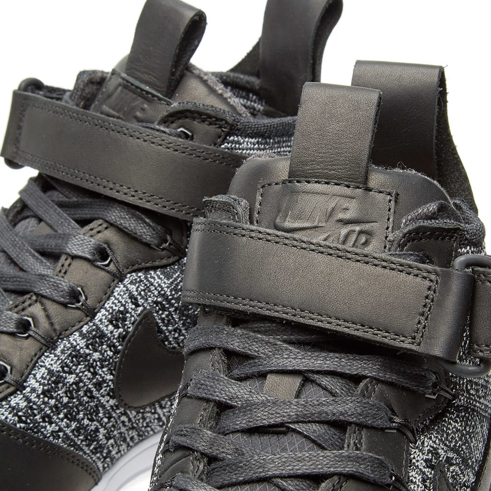 new products 8bf44 e3db3 Nike Lunar Force 1 Flyknit Workboot Black, White   Wolf Grey   END.