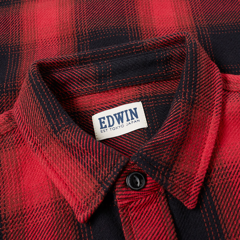 8491e51f5a8c Edwin Labour Shirt Red Plaid