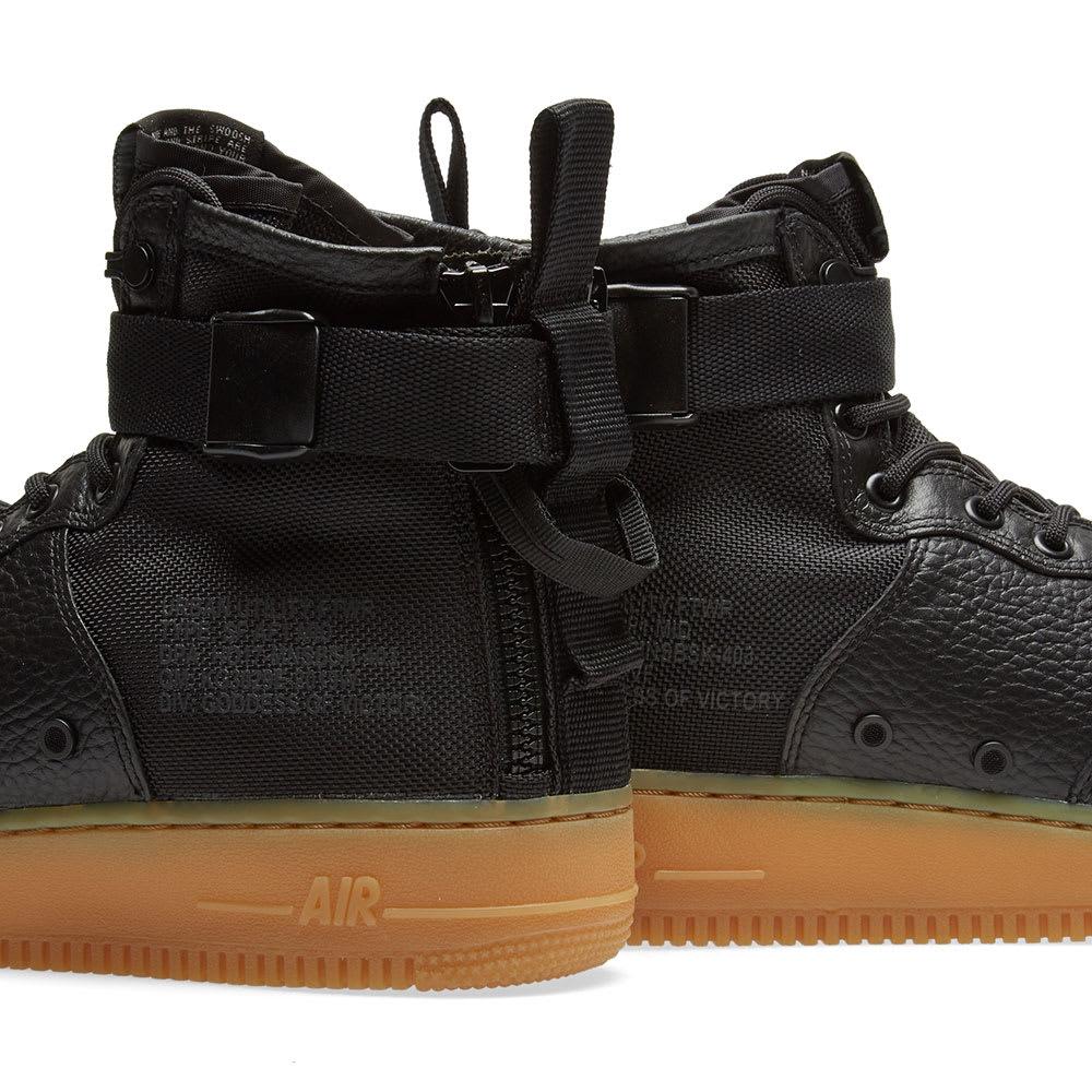 size 40 d5f65 5fff9 Nike SF Air Force 1 Mid Black, Gum   Light Brown   END.