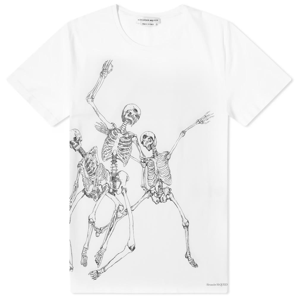 206b7012 Alexander McQueen Dancing Skeleton Tee White & Mix | END.