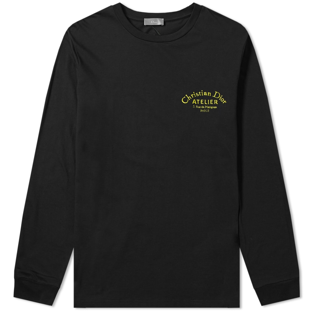 DIOR HOMME DIOR HOMME LONG SLEEVE ATELIER TRIBE EMBROIDERED TEE