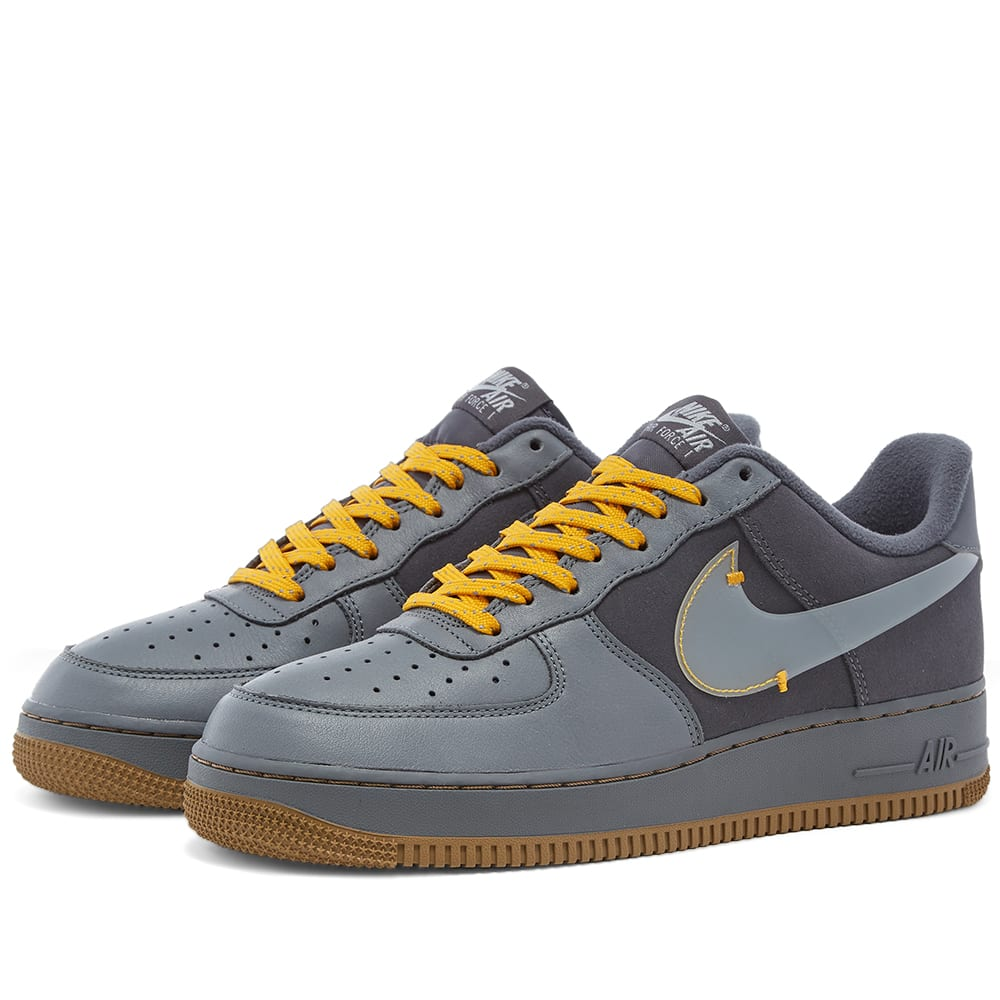 nike air force 1 orange grey
