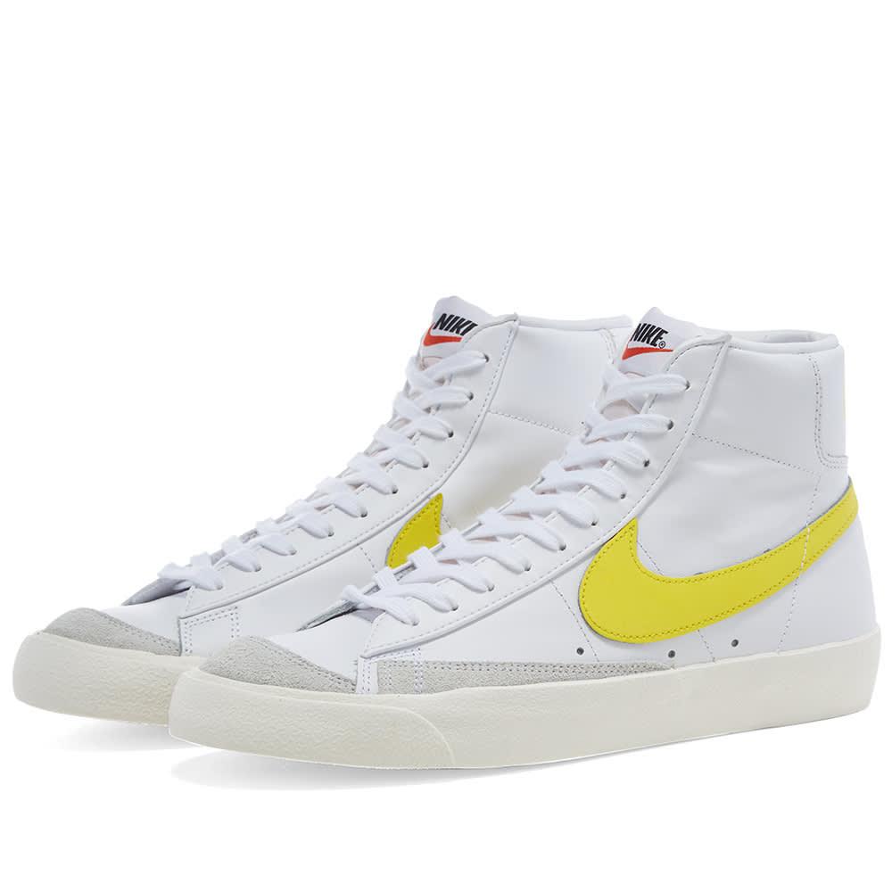 nike blazer mid 77 vintage white yellow