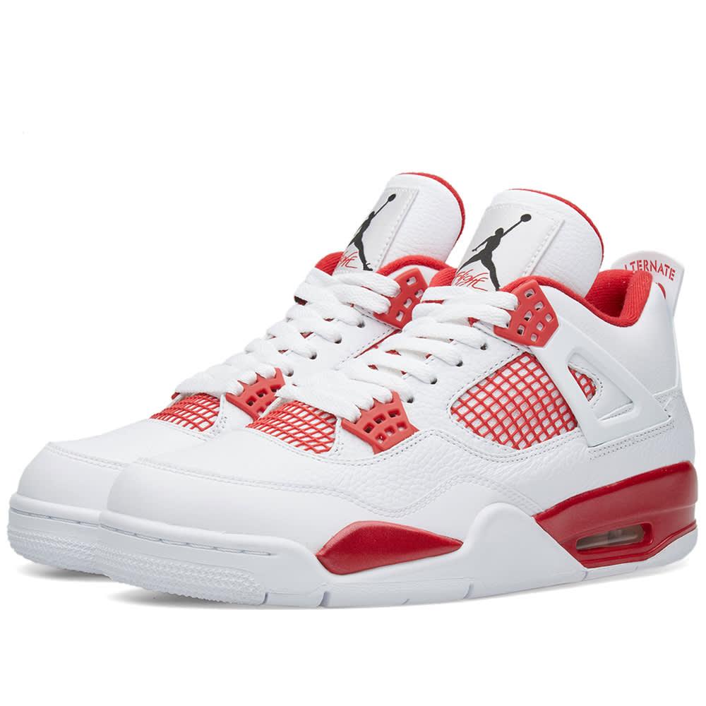 huge discount ef727 7a503 Nike Air Jordan IV Retro  Alternate 89  White, Black   Gym Red   END.