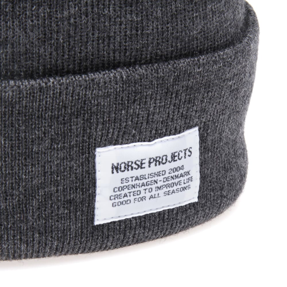 5d03cbe4a852d Norse Projects Merino Top Beanie Charcoal Melange