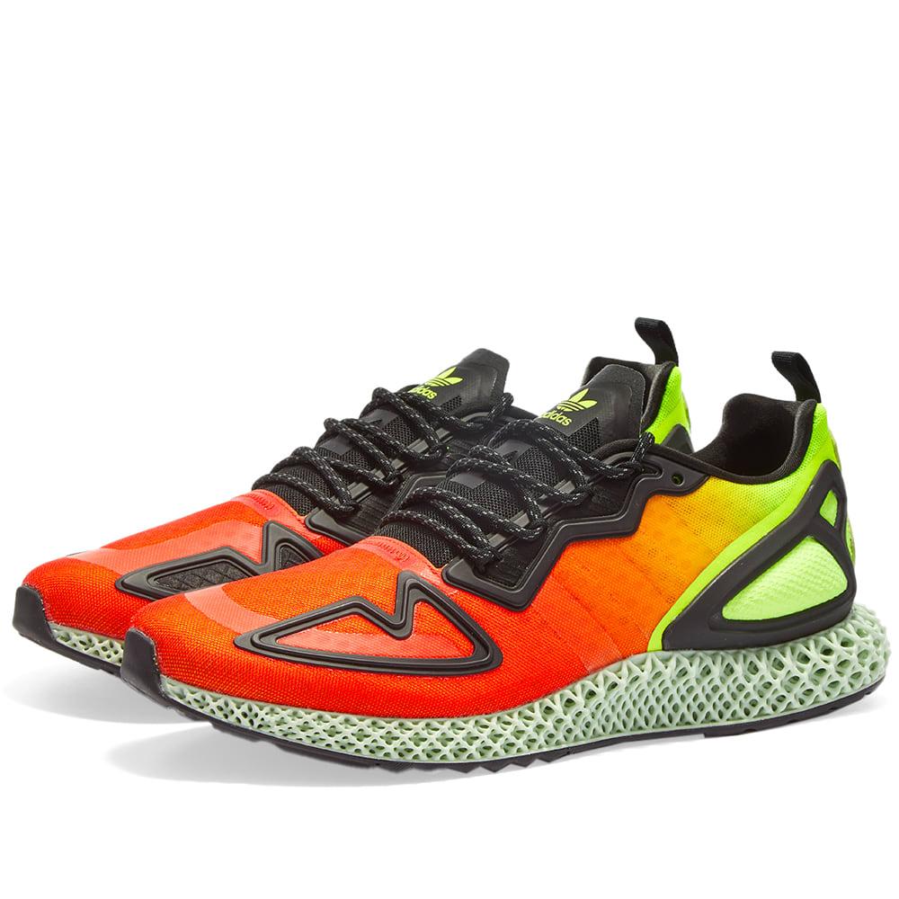 Adidas ZX 4D Yellow, Glory Red \u0026 Core