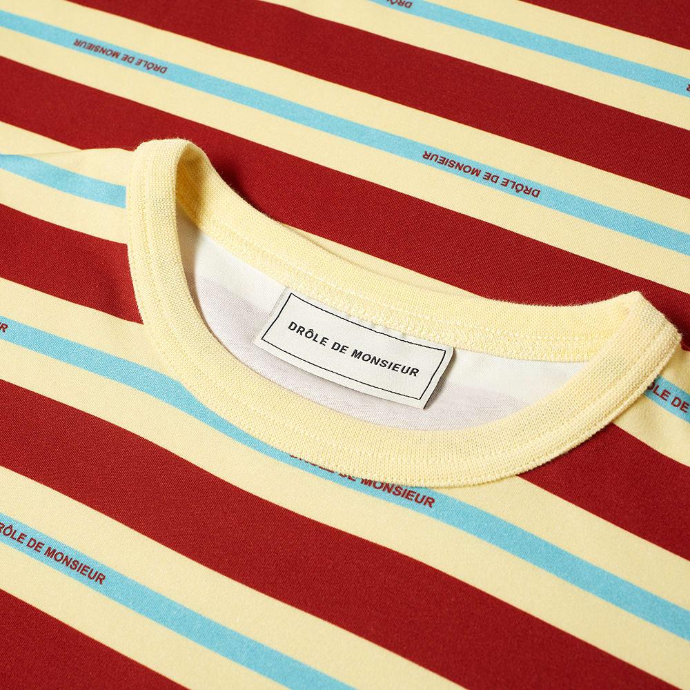 Drole De Monsieur Vintage Striped Logo Tee Rust End