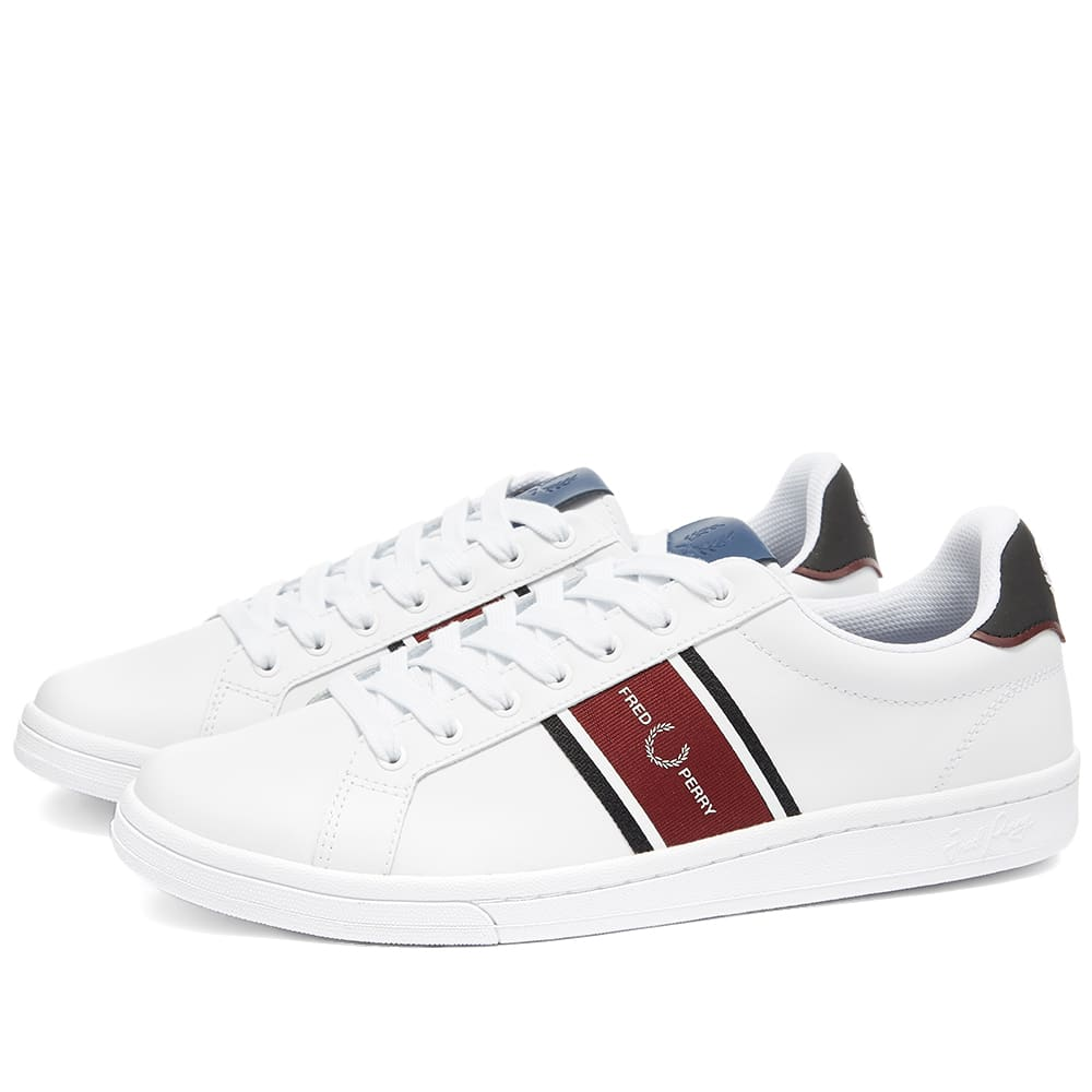 Fred Perry B721 Leather Sneakers With