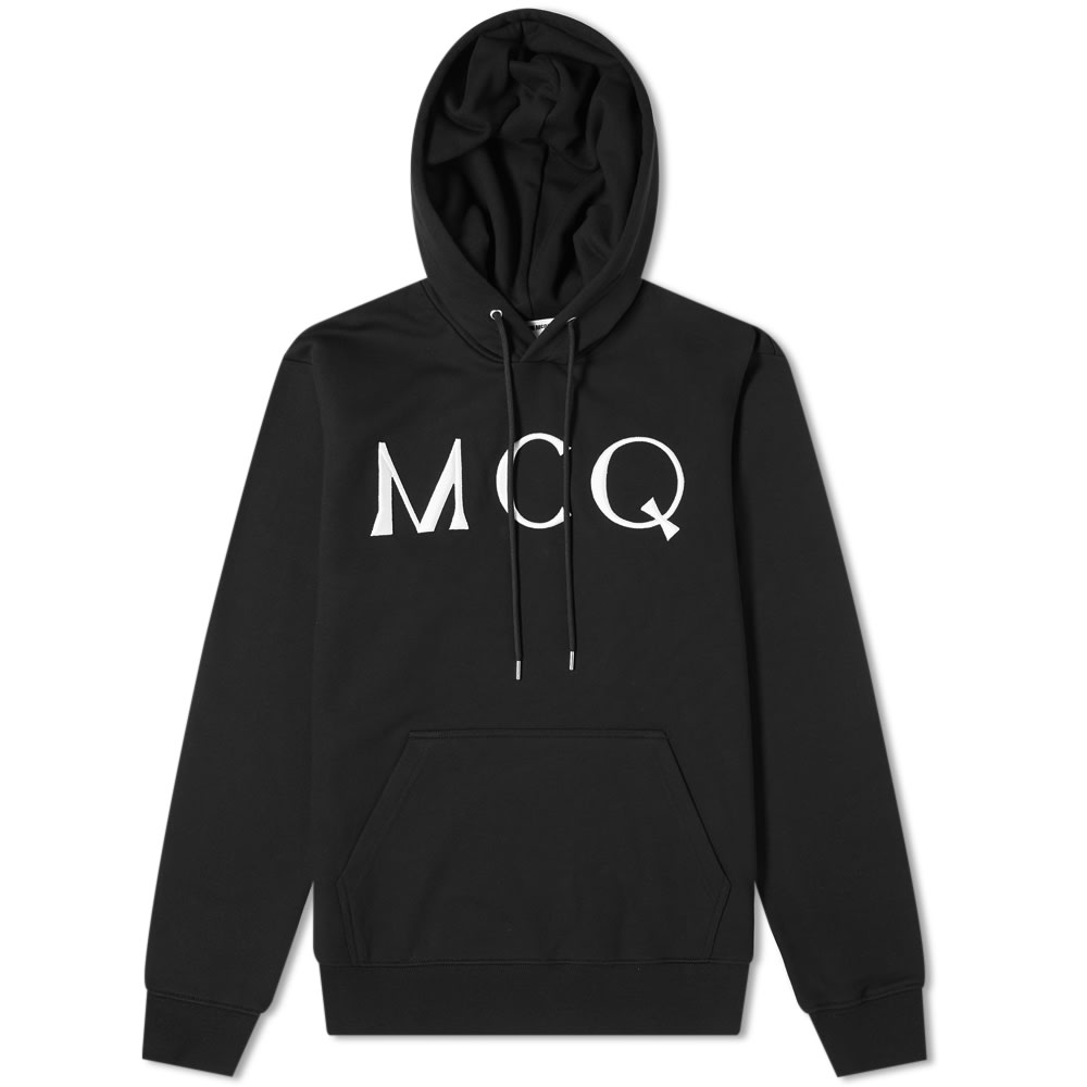 mcq swallow logo hoody darkest black end mcq swallow logo hoody