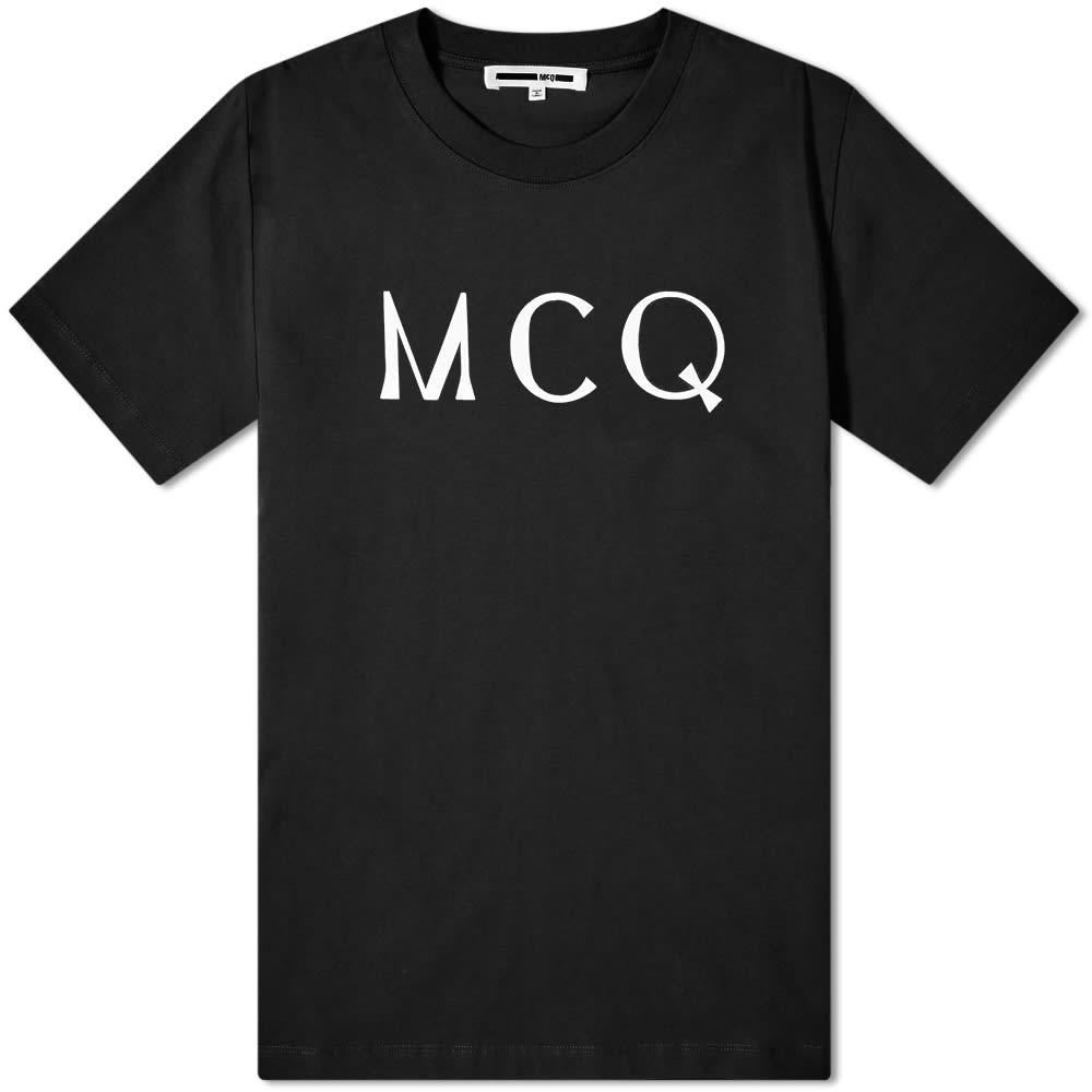 mcq swallow logo tee darkest black end mcq swallow logo tee