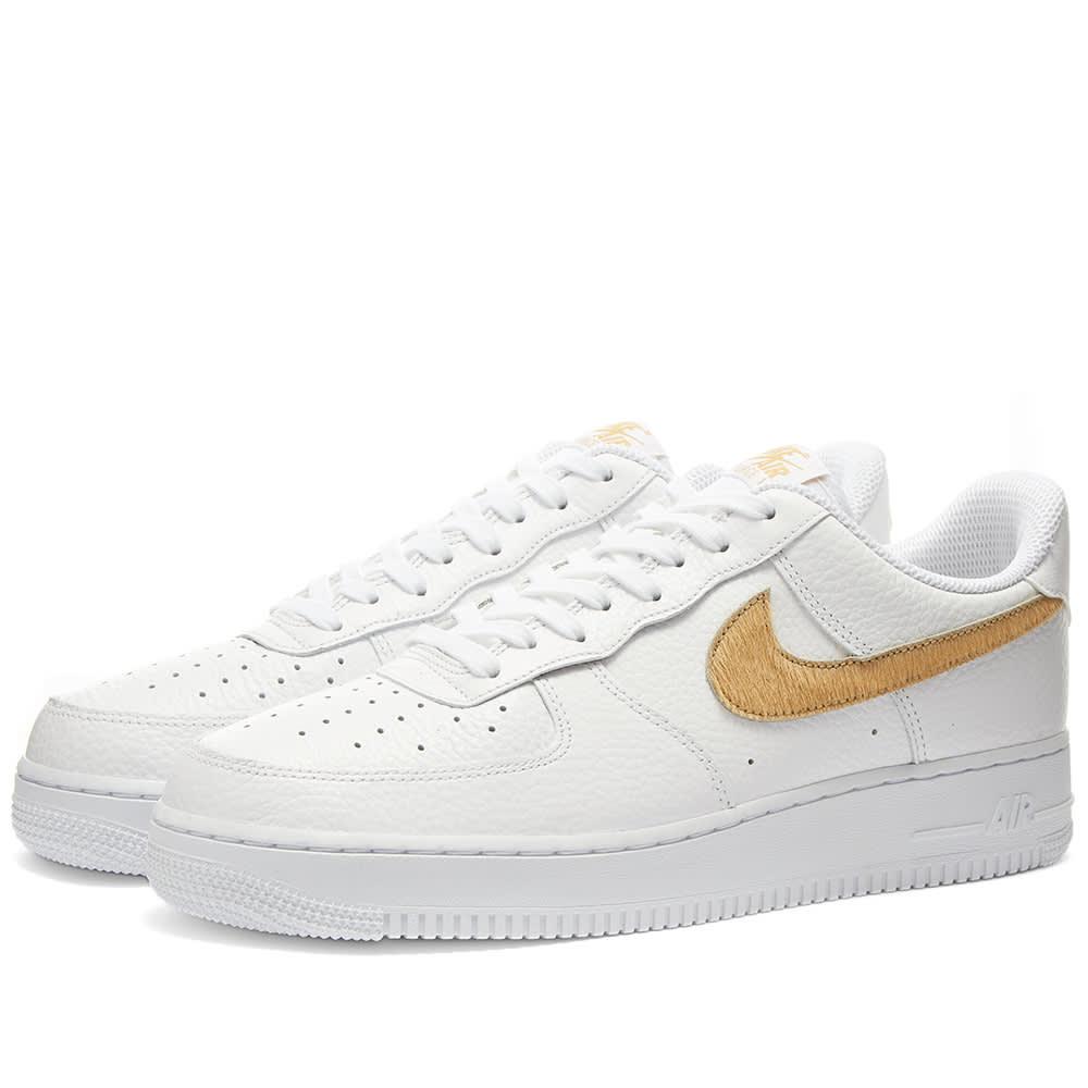 Nike Air Force 1 Gel White \u0026 Club Gold