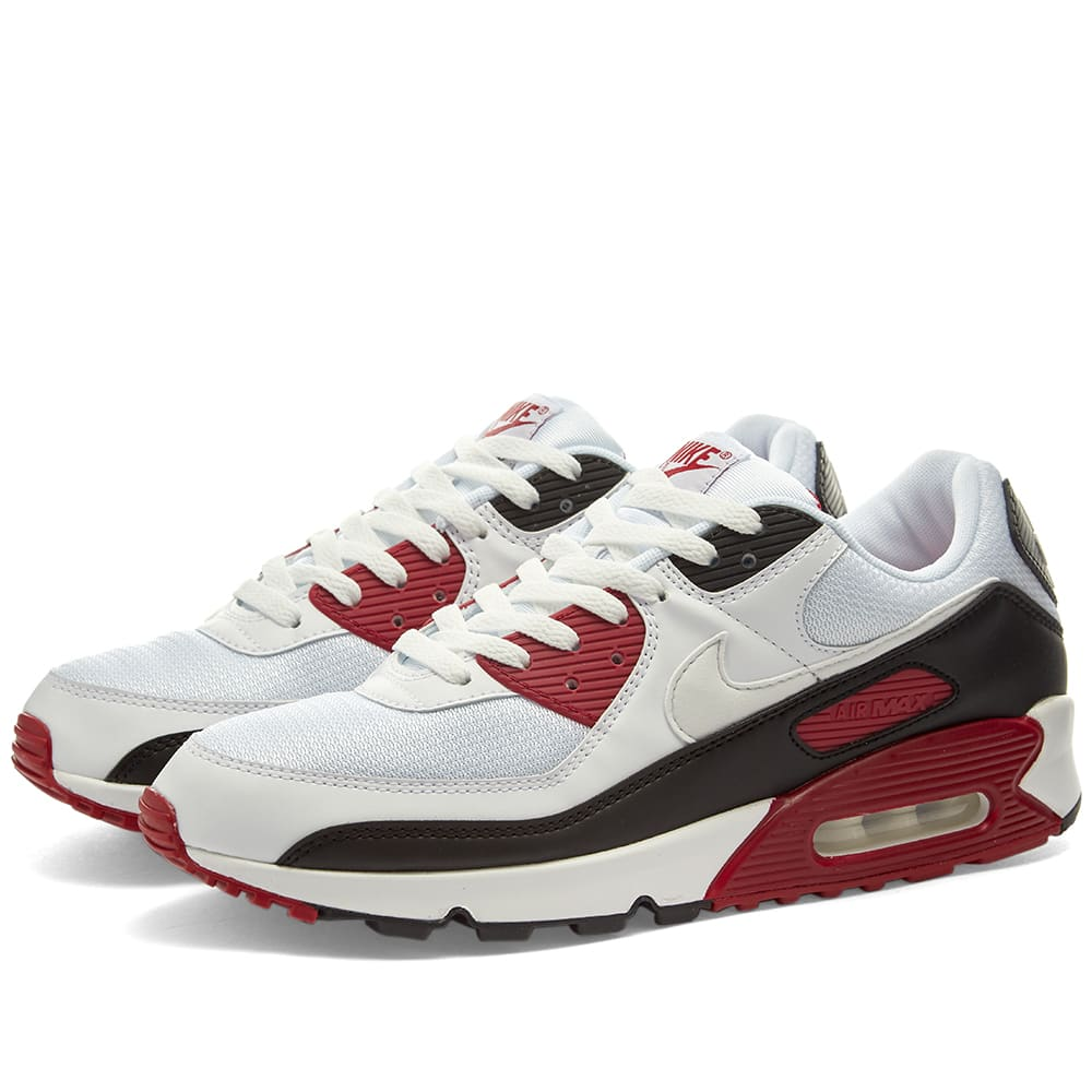Nike Air Max 90 White, Chile Red
