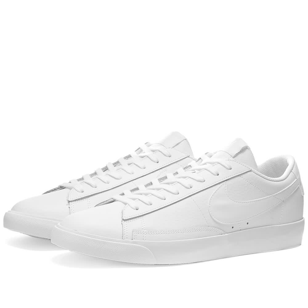 all white nike blazer low