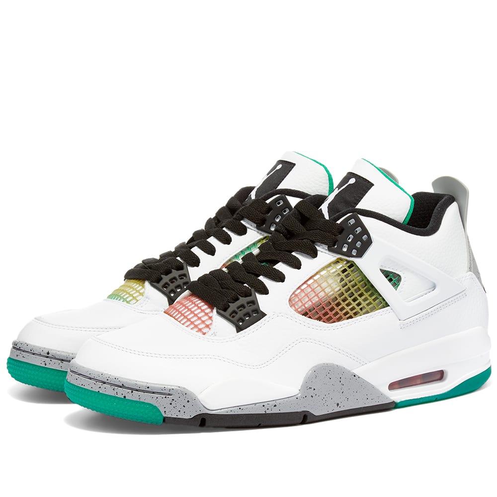 Air Jordan 4 Retro W White, Red, Green