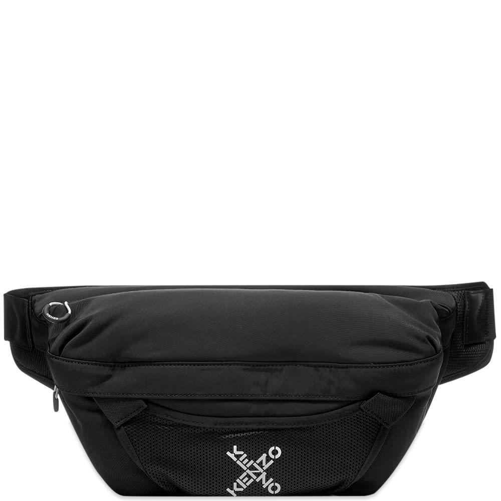 Kenzo Large Sport Waist Bag In Blue