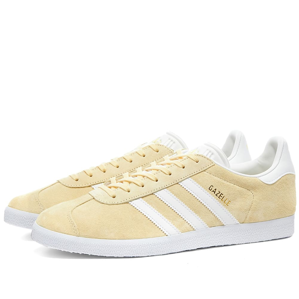 Adidas Gazelle Easy Yellow, White